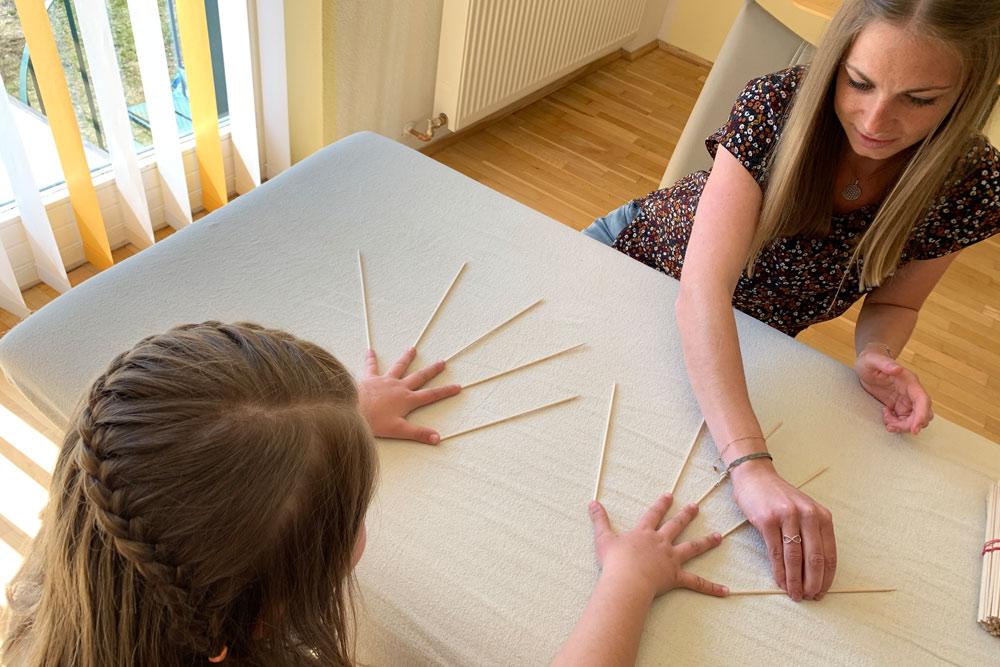 Arbeiten mit Stäbchen